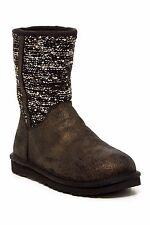 NEW UGG Australia Lyla Sequin Suede Boots Shoes, Black, US 6