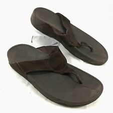 Women's FitFlop Flip Flop Sandals Brown suede OASIS Sz 9