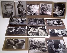 14 VINTAGE MOVIE Portrait Photos CARNEGIE LIBRARY KWAI PETER PAN AFRICAN QUEEN