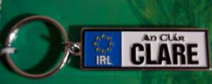 County CLARE Quality Irish KEYRING / Key Chain - style of Ireland Driving Plate