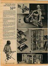 1975 ADVERTISEMENT Doll Debbie Lawler Motorcycle 7 Up Pop Dispenser Bozo Bank