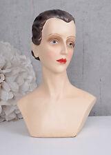 Buste De Femme Art Déco Buste Tête De Mannequin Buste Aux Bijoux Vintage