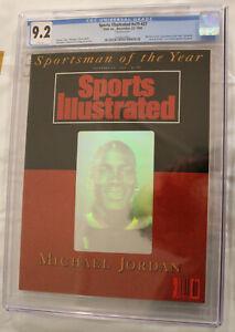 1991 SPORTS ILLUSTRATED #v75 #27 MICHAEL JORDAN SPORTSMAN OF THE YEAR CGC 9.2