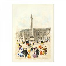"""Urbain Huchet Signed """"Place Vendome"""" Limited Edition 21x29 Lithograph"""