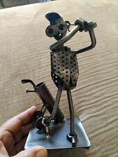 Hinz & Kunst Nuts & Bolts Metal Golfer Folk Art Scrap metal golf gift