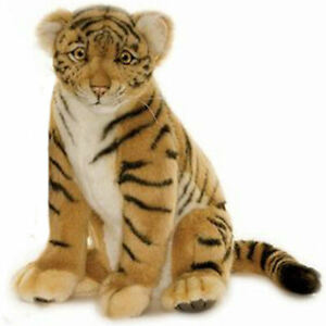 """NEW with Tag - Cub Baby Tiger Sitting Plush Stuffed 13"""" Tall by Hansa Toys 4263"""