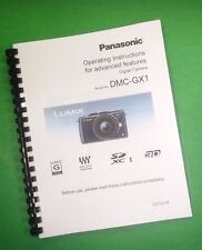 Panasonic DMC-GX1 Advanced Camera 225 Page Laser Printed Owners Manual Guide