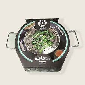COLES MASTERCHEF STEAMER 24cm 9.4inch Durable Stainless Steel Cookware BRAND NEW