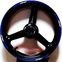 REFLECTIVE BLUE WHITE GP STYLE RIM STRIPES WHEEL DECALS TAPE STICKERS YZF R6 R6s