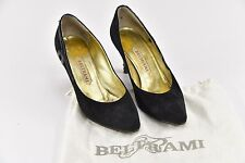 "Beltrami Black Suede Pumps 3"" Heels w/ Dust Cover Bag - Size 8 - R43"