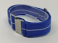 20mm French Troops Military style Watch Blue Strap parachute elastic nato