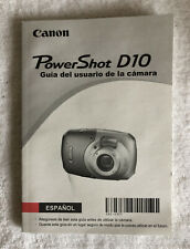Canon PowerShot D10 12.1 MP Digital Camera Instruction Manual~~Spanish~~