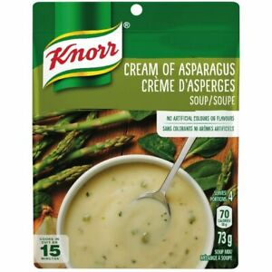 6 PACK Knorr Cream of ASPARAGUS Soup Mix 73g each -CANADA -FRESH AND DELICIOUS!
