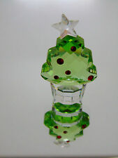 Swarovski CRYSTAL FELIX THE CHRISTMAS TREE FIGURINE Peridot Siam Mini Star NWOB