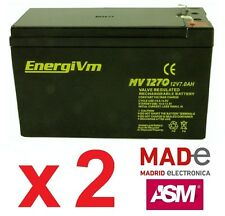 2 X Baterías de plomo AGM - 12V 7Ah - EnergiVm MV1270