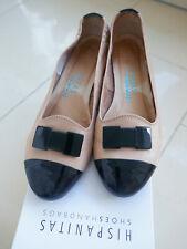Wonders Ballerina  Schwarz Black A-6132 Echtleder Schuh Damen Sommer Spanien NEU