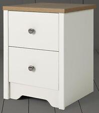 Tesco Somerton 2 Drawer Bedside Table - Ivory & Oak Effect