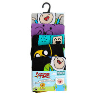 Official Licensed Mens Adventure Time Pack Of 5 Socks Shoe Size 6-8 Uk  Gift