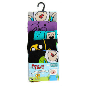 Official Licensed Mens Adventure Time Pack Of 5 Socks Shoe Size 9-12 Uk  Gift