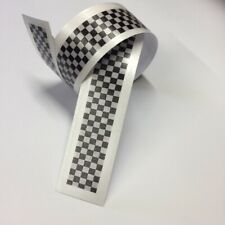 CHEQUERED Flag STRIPES Tape Decal Sticker Scooter Lambretta Vespa bike #a000145