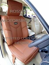 i - TO FIT A FIAT 124 SPIDER CAR, SEAT COVERS, YMDX TAN, RECARO BUCKET SEATS
