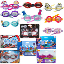 Kids 3D Character Swimming Goggles Paw Patrol Cars Minions Frozen Boys Girls 3+