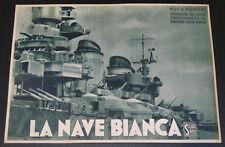 fotobusta film LA NAVE BIANCA Roberto Rossellini Francesco De Robertis 1941 WW2