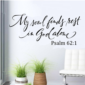"""My Soul Finds Rest In God Alone vinyl decal sticker 13"""" x 20"""""""