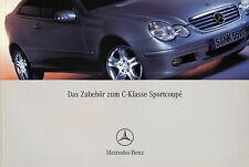 Prospekt Mercedes C-Klasse Sportcoupé Zubehör 2003 Autoprospekt 9 03 Pkw Auto