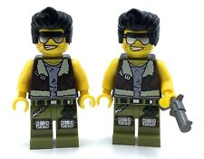 LEGO LOT OF 2 FRANK ROCK MINIFIGURES MONSTER FIGHTERS COOL GUY BROS