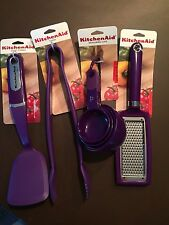 NWT Purple Kitchen Aid Utensils     Set of 4