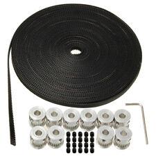 10pcs GT2 20T 5mm Bore 6mm Width Pulley+33FT GT2 Timing Belt  3D Printer Reprap