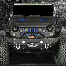 Stylish Front Bumper+Rivet+OE Fog Light Hole for 07-17 Jeep JK Wrangler