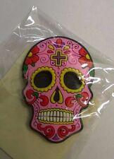 CANDY Crâne Jour des morts mexicain aimant pour réfrigérateur rose