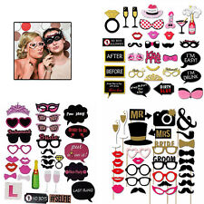 30pcs Full Set Hen Party Selfie Photo Props Booth Night Games Wedding Accessory