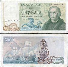 5000 Lire Colombo II tipo 11/4/1973 Carli - Barbarito