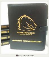 NRL CLUB Collectors Trading Card 3-Ring Album ( Inc. 10 pages)-BRISBANE BRONCOS