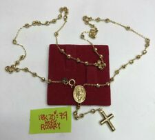 Gold Authentic 18k gold rosary necklace