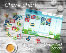 Toddler chore chart + Toddler reward chart with 220+ chore and routine cards