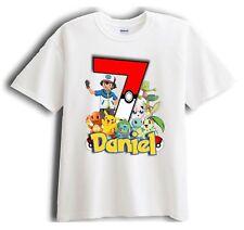 New Personalized Character Pokemon Birthday Shirt