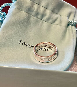 Authentic Tiffany & Co. Band 1837 Sterling Silver .925 Ring Size 7 1997