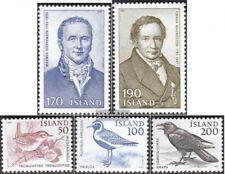 Island 563-564,567-569 (kompl.Ausg.) postfrisch 1981 Sondermarken