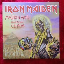 IRON MAIDEN MAIDEN HELL EU super Rare Promo CD ROM HELLROM001