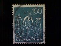 Stamps, Germany, Scott #176, used (o), 1923, Farmers, 160pfs, slate green