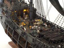"The Black Pearl full Scene Scale 1/50 38.5"" Wood Model Ship Kit"