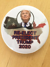 Re-Elect Donald Trump President 2020 button pinback