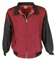 Burgundy/Black 60s 70s retro mod VINTAGE scooter Harrington Jacket`s