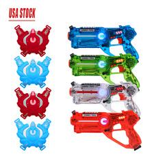 Infrared Laser Tag Gun Toy Set of 4 Players Family Laser Tag Set Garden Shooting