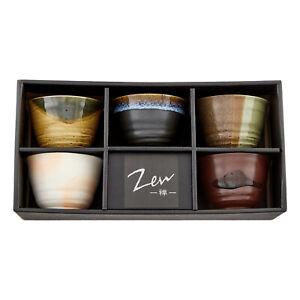 Japanische Teeschalen Set GOYOU Geschenkset hergestellt in Japan 5er Schalen-Set