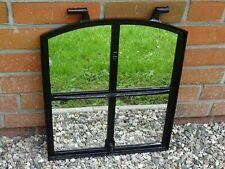 altes Gusseisen Stallfenster - Spiegel verglast - antikes Friesenhaus Fenster